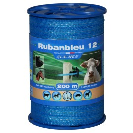 Ruban bleu 12 mm, 200 m