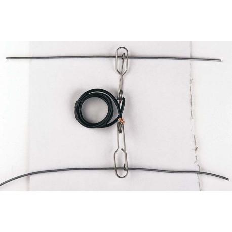 Liaison électrique entre 2 rangées de fils galvanisés