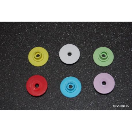 Allflex® Knopf weiblich Ø 29 mm gelb