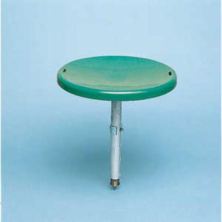 Melkschemel, Leichtmetall Sitz aus Kunststoff