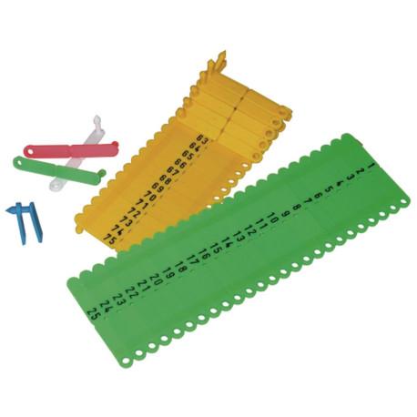 Rototag Ohrenmarken, 50 Stk., grün 001 bis 050