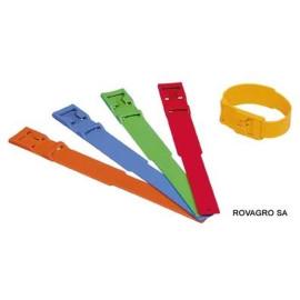 Bracelet bovin plastique, bleu 37 cm