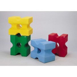 Cube d\'obstacle, bleu