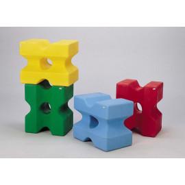 Cube d\'obstacle, mauve
