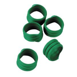 Bague volaille,20 pces, Ø16 mm, vert