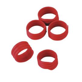 Bague volaille 20 pces, Ø16 mm, rouge