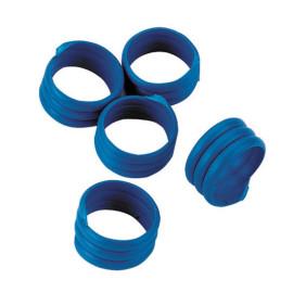 Bague volaille 20 pces, Ø16 mm, bleu