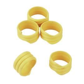 Bague volaille 20 pces, Ø16 mm, jaune