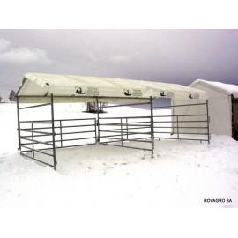 Planendach aus PVC für Horse Shelter 3,6 x 3,6 m