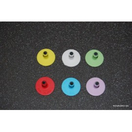 Allflex® bouton mâle Ø 29 mm blanc