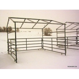 HORSE SHELTER 3,6 x 3,6 m ohne Tor