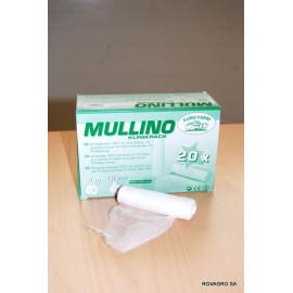 Bande de fixation mousseline Mullino 10 cm. 4 m. 20 pièces