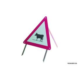 """Signal \""""vaches\"""" en alu réfléchissant"""