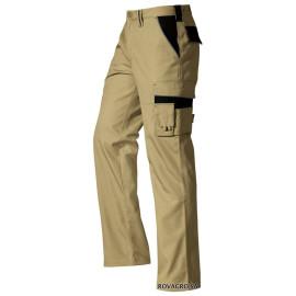 Pantalon de travail beige/noir (38)