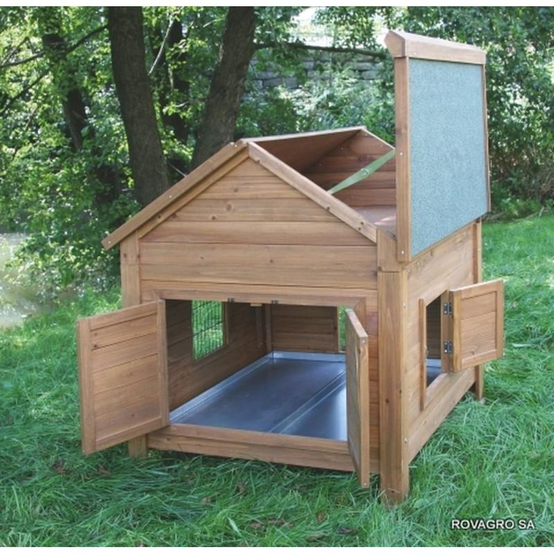 abri en bois pour petits animaux rovagro. Black Bedroom Furniture Sets. Home Design Ideas