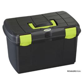 Putzbox Arrezzo mit herausnehmbarem Einsatz schwarz / pistazie