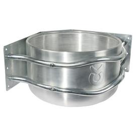 Aluminium-Futtertrog rund (Eckmontage)