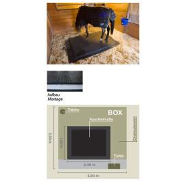 Pferdebox-Kuschelmatte 240 x 180 cm x 5 cm