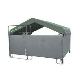 Mobilbox mit Corral voll 3.6 x 3 m + Dach